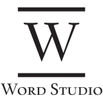 word studio logo b/w